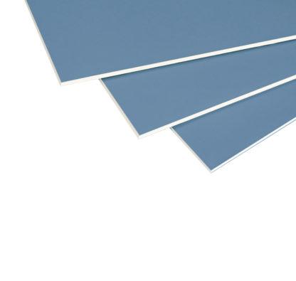 Plaque de plâtre BA13 Acoustique RIGIPS Pro Aku Bleue vue section et coin