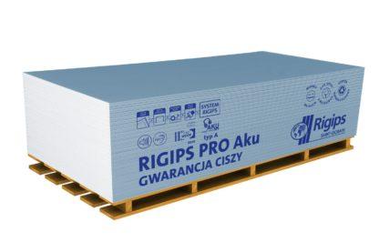 Plaque de plâtre bleue BA13 Acoustique RIGIPS Pro Aku sur palette
