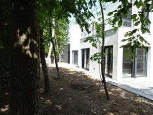 Chantier Le Vésinet - 78110 - pose baies vitrées + rambardes - côté