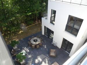 Chantier Le Vésinet - 78110 - pose baies vitrées - terrasse
