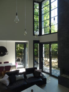 Chantier Le Vésinet - 78110 - pose baies vitrées salon