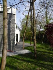 Chantier Le Vésinet - 78110 - pose baies vitrées + rambardes terrasses - arrière