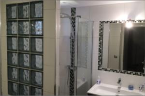 Salle de bain réalisé lors d'un chantier de rénovation de Carobois